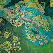 Аксессуары ручной работы. Ярмарка Мастеров - ручная работа Платок-Батик``Восточная красавица-Зумрат``(Изумруд). Handmade.