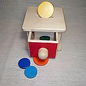Куклы и игрушки handmade. Livemaster - original item Educational toy piggy Bank - box with a Montessori box. Handmade.