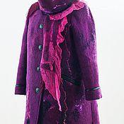 """Одежда ручной работы. Ярмарка Мастеров - ручная работа Пальто войлок """" Фуксия"""". Handmade."""