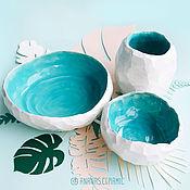 Посуда ручной работы. Ярмарка Мастеров - ручная работа Набор Флинтстоун. Handmade.