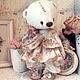 Мишки Тедди ручной работы. Ярмарка Мастеров - ручная работа. Купить Мишка Сестричка Микэллы. Handmade. Мишка, ретро, девочка