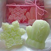 Косметика ручной работы. Ярмарка Мастеров - ручная работа Новогодний набор мыла. мыло варежка. мыло снежинка. Handmade.