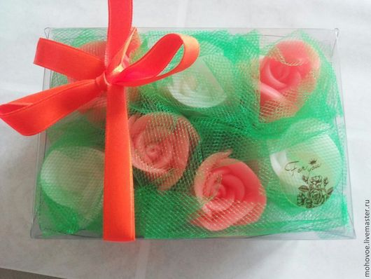 Мыло ручной работы. Ярмарка Мастеров - ручная работа. Купить Набор из бутонов роз для гостевого мыла. Handmade. Мыло сувенирное