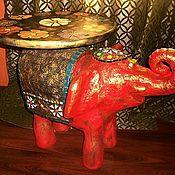 """Для дома и интерьера ручной работы. Ярмарка Мастеров - ручная работа Стол """" Большой красный слон """".. Handmade."""