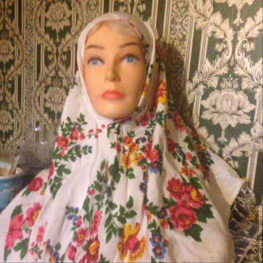 Шали, палантины ручной работы. Ярмарка Мастеров - ручная работа. Купить Платок,косынка,покрытая голова. Handmade. Платок, храм