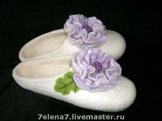 """Обувь ручной работы. Ярмарка Мастеров - ручная работа. Купить Тапочки """"Принцесса"""". Handmade. Домашние тапочки, подарок, женские тапки"""