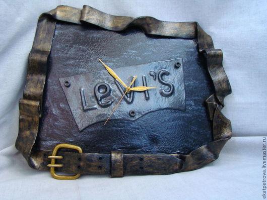 """Часы для дома ручной работы. Ярмарка Мастеров - ручная работа. Купить Часы """"Levi's"""". Handmade. Часы, оригинальные часы"""