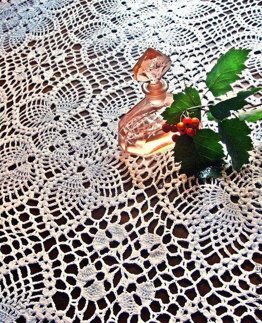 Красивая скатерть кружевная скатерть крючком украшение интерьера прованс Купить вязаную скатерть заказать скатерть подарок на свадьбу подарок на юбилей подарок на новоселье кремовый