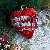 Для дома и интерьера ручной работы. Ярмарка Мастеров - ручная работа Плюшевое сердце. Handmade.