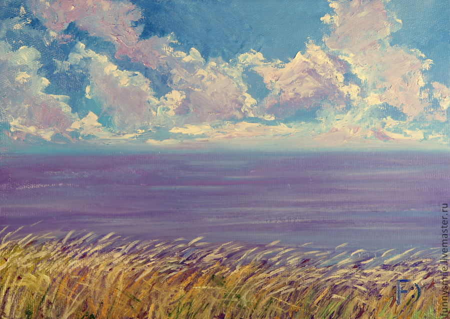 Oil painting on canvas. Sea lavender, Pictures, Moscow,  Фото №1