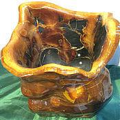 Для дома и интерьера ручной работы. Ярмарка Мастеров - ручная работа Ваза каменная из симбирцита, натурального природного камня. Handmade.