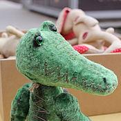 Куклы и игрушки ручной работы. Ярмарка Мастеров - ручная работа Тедди крокодил Гена. Handmade.