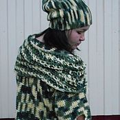 Одежда handmade. Livemaster - original item Set: sweater, Snood, hat. A fashionable touch. Oversized.. Handmade.