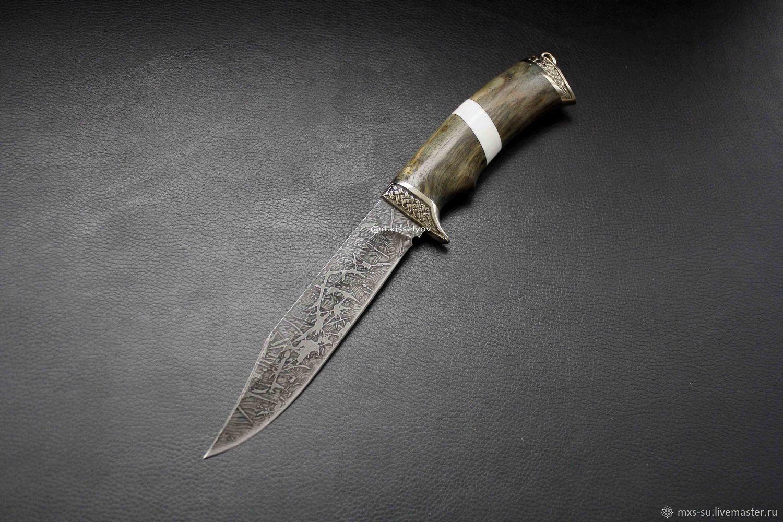 Damascus steel knife, Knives, Tyumen,  Фото №1