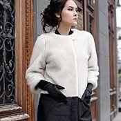 Одежда handmade. Livemaster - original item Fur combined under pearl grey mink. Handmade.
