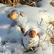 Для дома и интерьера ручной работы. Ярмарка Мастеров - ручная работа Милые керамические овечи. Handmade.