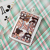"""Украшения ручной работы. Ярмарка Мастеров - ручная работа Подвеска """"Дама Треф"""" эмаль. Handmade."""