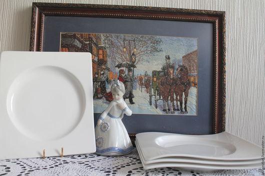 Винтажная посуда. Ярмарка Мастеров - ручная работа. Купить Тарелки Villeroy&Boch. Handmade. Белый, винтажная посуда