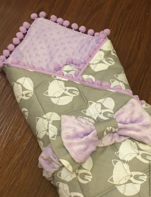 """Пледы и одеяла ручной работы. Ярмарка Мастеров - ручная работа. Купить Одеяло-конверт """"лисички"""". Handmade. Комбинированный, одеяло детское"""