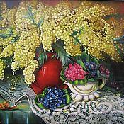 Картины и панно handmade. Livemaster - original item Oil painting Mimosas