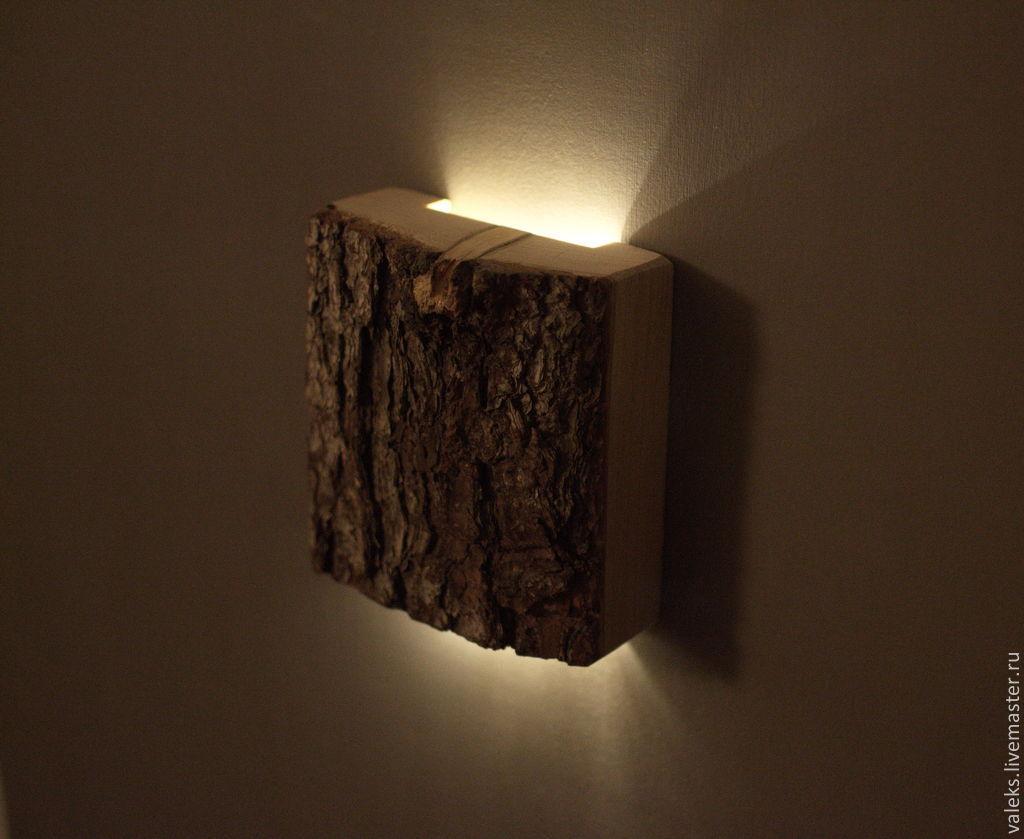 Настенные светильники и бра из дерева своими руками