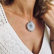 Украшения handmade. Livemaster - original item Necklace on the neck made of silver and natural quartz. Handmade.