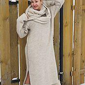 Dresses handmade. Livemaster - original item Green Alpaca wool dress. Handmade.