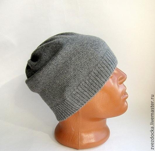 """Шапки ручной работы. Ярмарка Мастеров - ручная работа. Купить шапка мужская """"Grey"""". Handmade. Серый, шапка для мальчика"""