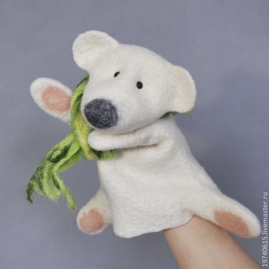 Кукольный театр ручной работы. Ярмарка Мастеров - ручная работа. Купить Белый мишка. Перчаточная кукла.. Handmade. Белый