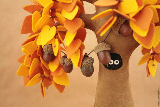 Мишки Тедди ручной работы. Ярмарка Мастеров - ручная работа. Купить Времена Года - Осень (Ося). Handmade. Желтый, холофайбер