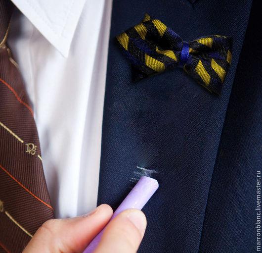 """Галстуки, бабочки ручной работы. Ярмарка Мастеров - ручная работа. Купить Бутоньерка бабочка в лацкан пиджака """"Yellow"""". для свадьбы. Handmade."""