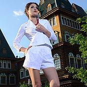 Одежда ручной работы. Ярмарка Мастеров - ручная работа 193: летний костюм женский, костюм  из шитья, летние шорты. Handmade.