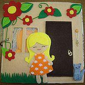 """Куклы и игрушки ручной работы. Ярмарка Мастеров - ручная работа Развивающая книжка """"Кукольный домик"""". Handmade."""