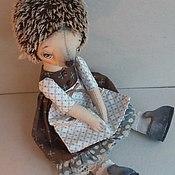 Куклы и игрушки ручной работы. Ярмарка Мастеров - ручная работа Ежик- девочка Ежевичка). Handmade.