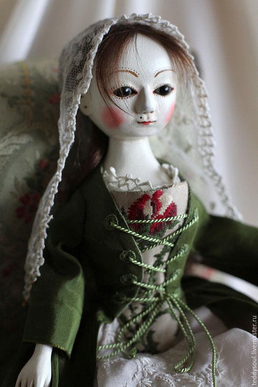 Коллекционные куклы ручной работы. Ярмарка Мастеров - ручная работа. Купить Милдред I, деревянная кукла времен Королевы Анны. Handmade.
