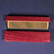 Сувениры и подарки handmade. Livemaster - original item Copy of Comb in a case with a magnetic latch of bog oak 5400 years. Handmade.