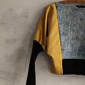 Одежда handmade. Livemaster - original item Jumper bat out of fabric, silk and wool. Handmade.