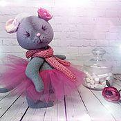 Мягкие игрушки ручной работы. Ярмарка Мастеров - ручная работа Мышка Дымка. Handmade.