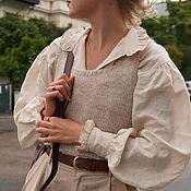 Одежда handmade. Livemaster - original item Linen shirt with puffy sleeves.. Handmade.