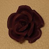 """Украшения ручной работы. Ярмарка Мастеров - ручная работа Роза из кожи """"Фиолет"""". Handmade."""