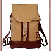Рюкзаки ручной работы. Ярмарка Мастеров - ручная работа Кожаный рюкзак  кремовый с рыжим. Handmade.