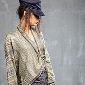 Одежда ручной работы. Ярмарка Мастеров - ручная работа КН_006 Кардиган-трансформер «Желто-серебряный каньон». Handmade.