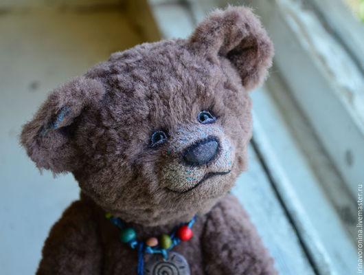 Мишки Тедди ручной работы. Ярмарка Мастеров - ручная работа. Купить Мокко...Коллекционный медведь тедди. Handmade. Коричневый