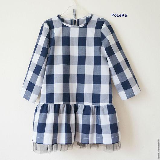 Одежда для девочек, ручной работы. Ярмарка Мастеров - ручная работа. Купить Платье для девочки в клеточку. Handmade. Платье для малышки