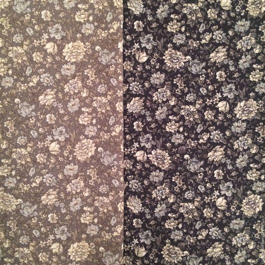 """Шитье ручной работы. Ярмарка Мастеров - ручная работа. Купить Ткань для шитья. (2 шт.) """"Цветы-1. Япония"""". Хлопок 100% Япония.. Handmade."""