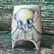 """Посуда ручной работы. Ярмарка Мастеров - ручная работа """"Слоненок"""" чашка с ножками. Handmade."""