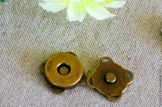Шитье ручной работы. Ярмарка Мастеров - ручная работа. Купить Магнитная кнопка 14 мм. Handmade. Золотой, металлическая фурнитура