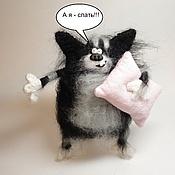 Куклы и игрушки ручной работы. Ярмарка Мастеров - ручная работа Кот с подушкой. Handmade.