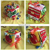 Куклы и игрушки ручной работы. Ярмарка Мастеров - ручная работа Развивающий кубик 7 большой. Handmade.