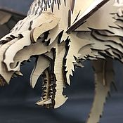 """Мини фигурки и статуэтки ручной работы. Ярмарка Мастеров - ручная работа 3D конструктор """"Дракон"""". Handmade."""